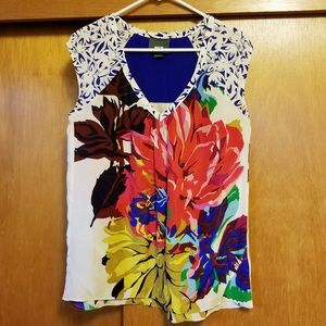 Maeve Floral Extended Sleeve Silk Blouse